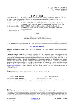 Dražební vyhláška čj. 128 EX 10942/13-143