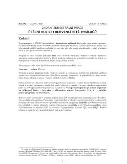 Podrobné zadání úlohy č. 2 – dokument PDF