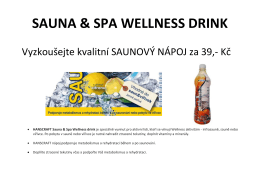 SAUNA & SPA WELLNESS DRINK