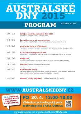 Program akce - Australské dny