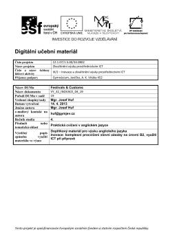 Digitální učební materiál - DUM gymjev