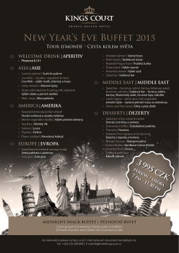 New Year`s Eve Buffet 2015
