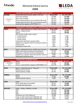 Maloobchodní ceník Leda 2015