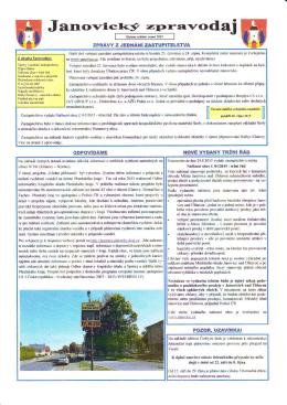 Janovický zpravodaj č. 03/2015