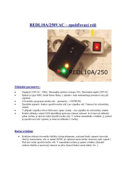 REDL10A/250VAC – zpožďovací relé