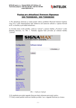 Manuál Signamax switch aktualizace firmware 300