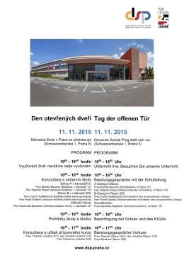 Den otevřených dveří - Deutsche Schule Prag
