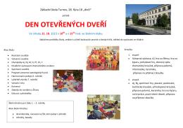 DEN OTEVŘENÝCH DVEŘÍ - Základní škola Turnov