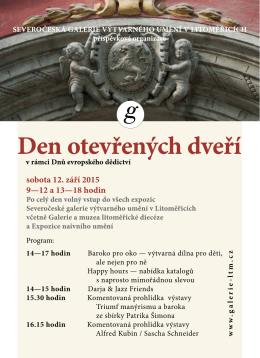 Pozvánka na Den otevřených dveří - galerie