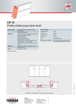 LR 12 Profily křídel posuvných dveří - MAMA