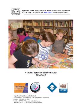 Výroční zpráva o činnosti školy 2014/2015