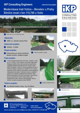 Modernizace trati Votice – Benešov u Prahy Silniční most v km