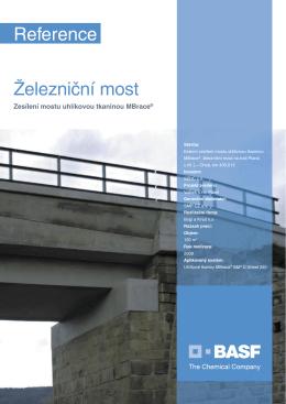 Železniční most - Externí zesílení mostu uhlíkovou tkaninou MBrace