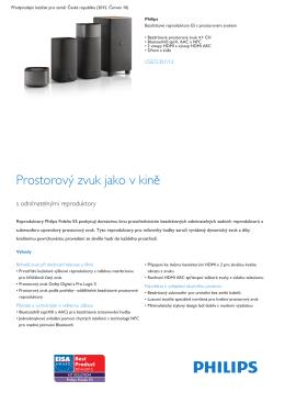 Bezdrátové reproduktory E5 s prostorovým zvukem