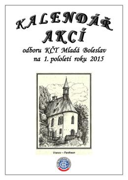 odboru KČT Mladá Boleslav na 1. pololetí roku 2015