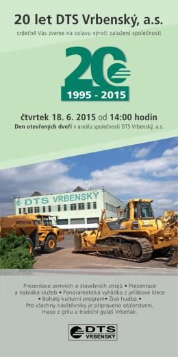 20 let DTS Vrbenský, a.s.