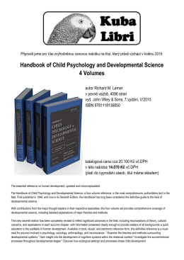 Handbook of Child Psychology and Developmental
