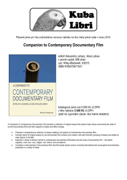 Companion to Contemporary Documentary Film