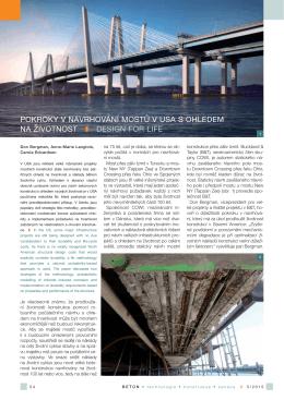 pokroky v navrhování mostů v usa s ohledem na