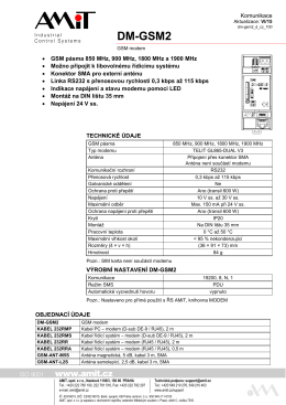 DM-GSM2 - leták