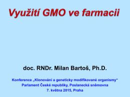 Využití GMO ve farmacii