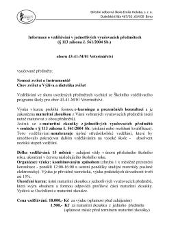 43-41-M/01 Veterinářství