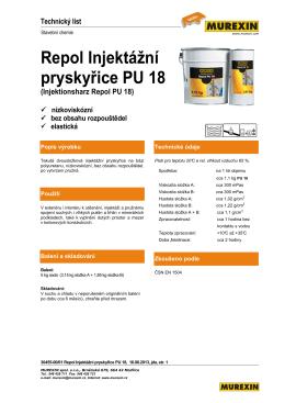 Repol Injektážní pryskyřice PU 18