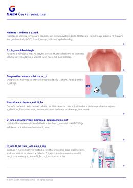 Halitóza – definice a p_vod Halitóza je klinický termín pro zápach z