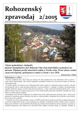 Rohozenský zpravodaj 2/2015