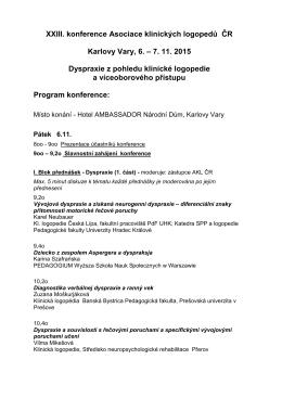 2015.11.6-7. Karlove Vary - Polski Związek Logopedów