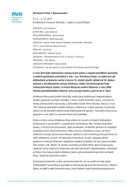 Tisková zpráva - Muzeum umění Olomouc