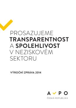 Výroční zpráva AVPO ČR za rok 2014