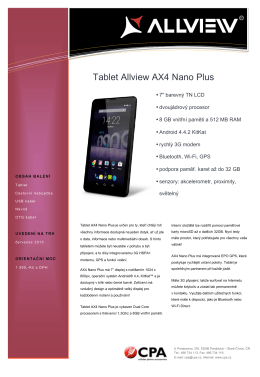 Tablet Allview AX4 Nano Plus