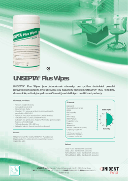 UNISEPTA® Plus Wipes
