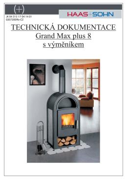 TECHNICKÁ DOKUMENTACE Grand Max plus 8 s výměníkem