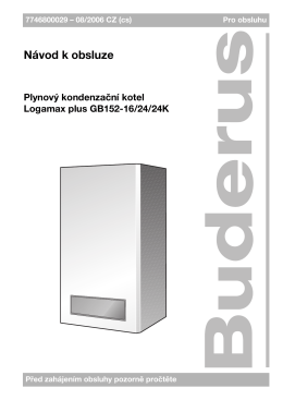 User manual Logamax plus GB152-16/24/24K - CZ - e