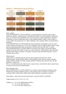 Odstíny – Jednorázová lazura HS plus