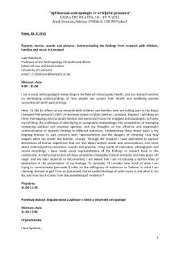 Program - Česká asociace pro sociální antropologii