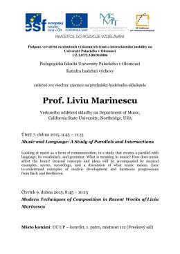 Prof. Liviu Marinescu