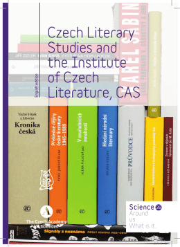 Czech Literary Studies and the Institute of Czech