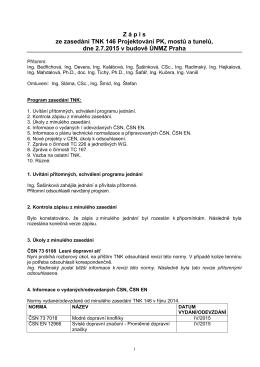 Zápis z jednání TNK 146