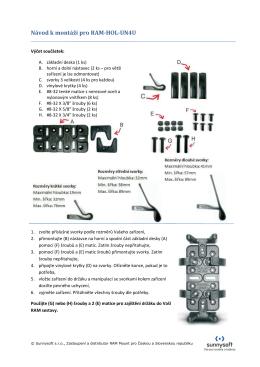 Návod k montáži pro RAM-HOL-UN4U