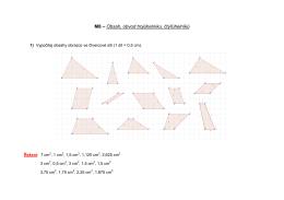 M8 – Obsah, obvod trojúhelníku, čtyřúhelníků