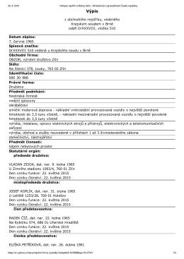 Výpis z obchodního rejstříku