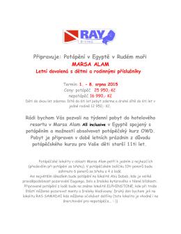 Pozvánka - Raydiving