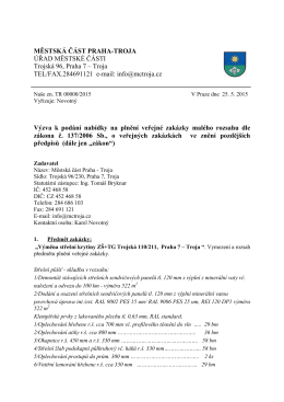 Výzva VZ výměna střešní krytiny ZŠ Trojská 110