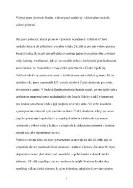 Celý projev prof. Pavlíčka zde