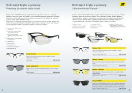 Ochranné brýle a průzory Ochranné brýle a průzory