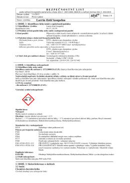 Datový list ke stažení - STYL, družstvo pro chemickou výrobu