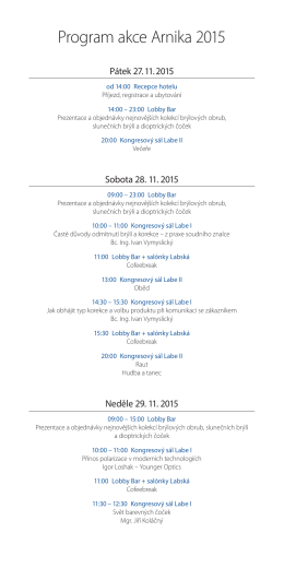 Program akce Arnika 2015